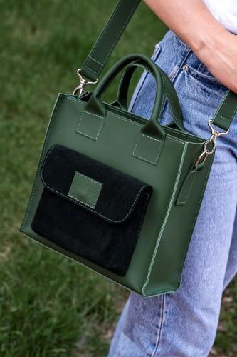 """Elegantiška rankinė """"Žalias akcentas"""""""
