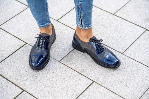 """Klasikiniai oxford stiliaus batai """"Prašmatniai mėlyni"""""""
