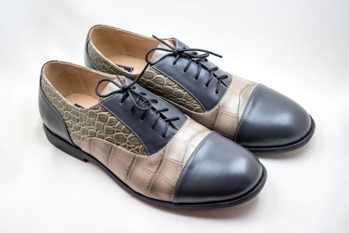 """Klasikiniai oxford stiliaus batai """"Pilki tonai"""""""