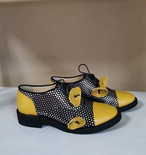 """Oxford stiliaus bateliai """"Geltoni žiedai"""""""