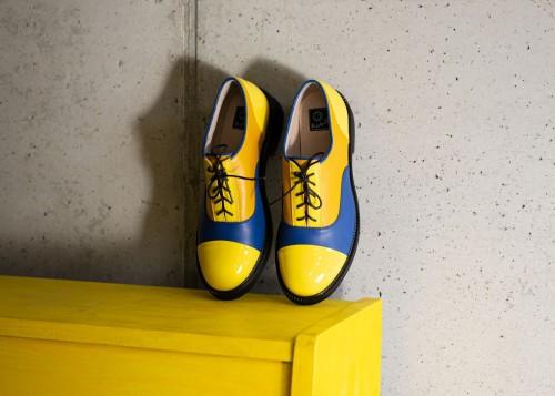 """Oxford stiliaus bateliai """"Geltona - mėlyna"""""""