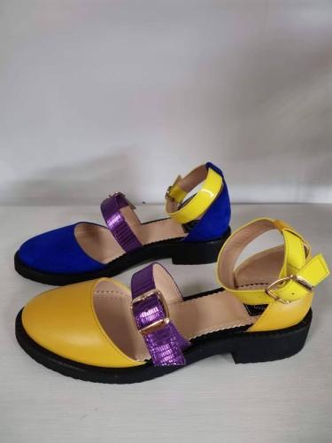 "Patogieji sandalai ""Mėlyna - geltona"""
