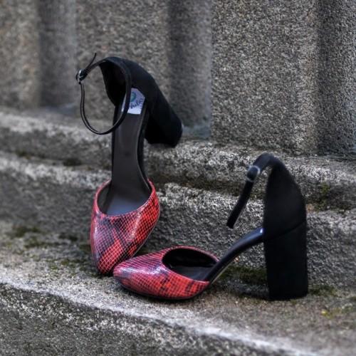 Clasic High Heels RED SNAKE