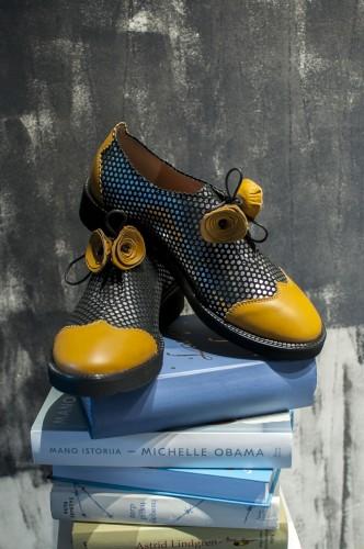 """Oxford stiliaus bateliai """"Vasaros gėlės"""""""